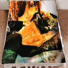 Camplayco D.Gray-man Lavi Cosplay Bedding Set Flannel Blanket Bed Sheets -- You can find out more details at the link of the image.