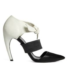 How to Wear Ladylike Lace on #ShopBAZAAR - Proenza Schouler Ankle Bow Pump