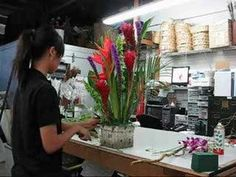 Tropical Arrangement By Everyday Flowers - YouTube