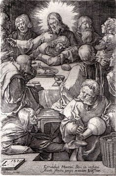 Lucas van Leyden   The Last Supper  by HouseofStowFineArts on Etsy, $500.00