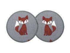 Applikation Fuchs grau runder Aufnäher Patch von Silwarin auf DaWanda.com