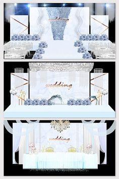 Blue style marble texture wedding background#pikbest#decors-models Wedding Backdrop Design, Wedding Stage Design, Wedding Decorations, Wedding Scene, Forest Wedding, Wedding Reception, European Wedding, Marble Texture, 3d Models