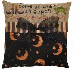 Sit a Spell Pillow - Cross Stitch Kit