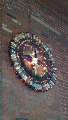 Bell's Beer-bottle Wreath - perfect for Taylor's future home-brew room!