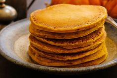These pancakes are gluten-free and high in protein, if you're in to that sort of thing.