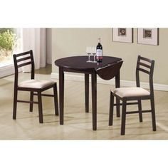 Coaster Furniture Casual Dinettes 3 Piece Dining Set - 130005