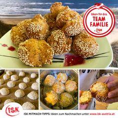 """Ein gesunder Snack für Zwischendurch selbstgemacht: SESAM-BROTBÄLLCHEN! 😋  Diesen Mitmach-Tipp hat uns ISK Schulcoach Leonila Holzinger von der VS 5 in Wels-Mauth gesendet! Ihr findet ihn bei unseren """"Kochtipps"""", außerdem rd 100 Anregungen aus der ISK Nabe!   #Mitmachtipps #isk #kochtipp #kochenmitkindern #rezeptefürkinder #kinderrezepte #s#sesamrezepte  #wirbleibendaheim #stayathome #krisealschance #kreativzeit #deinteamfamilie #teamfamilie #teamösterreich #coronazeit #bleibgesund Muffin, Breakfast, Kid Cooking, Kid Recipes, Wels, Brot, Homemade, Morning Coffee, Muffins"""