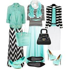 Black/White/Aqua very pretty :)