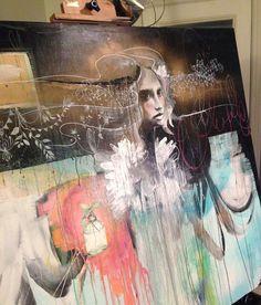 Anahata Katkin- Painting in progress