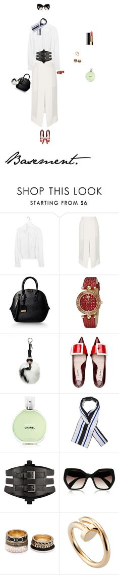 """Meet You In An Elevator"" by dorisruiyingli ❤ liked on Polyvore featuring Chloé, Dion Lee, Burberry, Versace, Fendi, Chanel, Balenciaga, Kiki de Montparnasse, Prada and Forever 21"