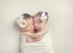 newborn twins photography baby girls pastel