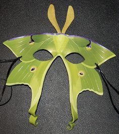 Luna moth leather mask by Angeldess on Etsy, $100.00