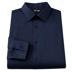 Apt. 9 Slim-Fit Spread-Collar Dress Shirt