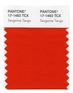 While not a product, Pantone is THE color guru. The color of the year forecast for 2012 is Tangerine Tango. For a look at how Pantone selects colors for to reflect us, check it out. Pantone Tcx, Pantone Color, Pantone Number, Tango, Living Colors, Orange Rooms, Color Of The Year, Room Colors, Paint Colors