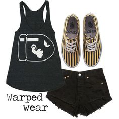 Untitled #856 by mjvm on Polyvore featuring American Apparel and Vans