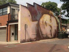 The Short North Arts District: Mona Lisa Mural by Brian Clemons at 742 North Pearl Street.
