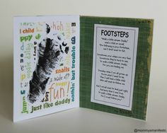 Footsteps Father's Day Card DIY