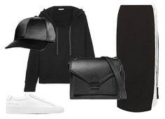 Кеды Common Project, кепка H&M, худи James Perse, сумка Loeffler Randall, юбка Rejina Pyo