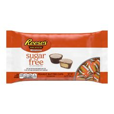 Reese's Peanut Butter Cups Miniatures Sugar Free - - image 1 of 3 Sugar Free Peanut Butter, Peanut Butter Candy, Sugar Free Candy, Sugar Free Chocolate, Creamy Peanut Butter, Cocoa Butter, Healthy Protein Snacks, Eating Healthy, Healthy Recipes