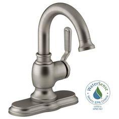 KOHLER Worth Single Hole Single-Handle Bathroom Faucet in Vibrant Brushed Nickel-K-R76255-4D-BN - The Home Depot