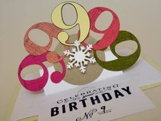 Sliding 9th Birthday Card by griggles - Cards and Paper Crafts at Splitcoaststampers