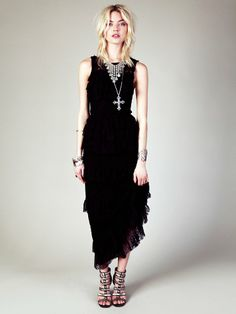 A Black Free People Black Dahlia Maxi Dress is def not too far fetched for me on my wedding day...