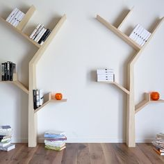 The booktree is a beautiful tree-inspired bookshelf designed by Kostas Syrtariotis.