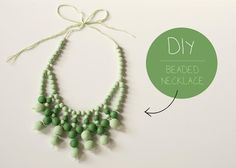 DIY clay bead necklace - tutorial via Jen Loves Kev Diy Necklace, Necklace Tutorial, Necklaces, Green Necklace, Clay Beads, How To Make Beads, Jewelry Crafts, Jewelry Ideas, Jewelry Box