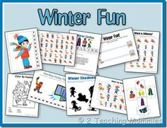 Winter Fun PreK Unit from 2 Teaching Mommies. expanded