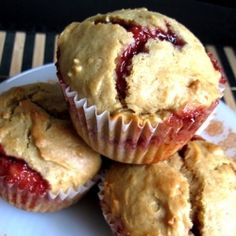 Peanut Butter and Jelly Muffins-So yummy, made them this morning after seeing Paula Dean make them...this recipe is close enough! *Chrissie