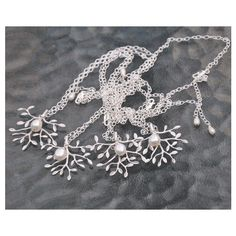 Bridesmaid Jewelry Gift Set, 4 Sterling Silver Necklaces, Tree... ($95) ❤ liked on Polyvore featuring jewelry, freshwater pearl jewelry, wedding jewelry, sterling silver jewellery, sterling silver wedding jewelry and sterling silver jewelry
