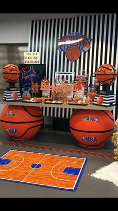 Ideas For Basket Ball Birthday Party Decorations Banquet Centerpieces Sports Themed Birthday Party, Basketball Birthday Parties, Boy Birthday Parties, Birthday Party Decorations, Basketball Party Favors, Basketball Baby Shower, Basketball Bedroom, Basketball Anime, Basketball Posters