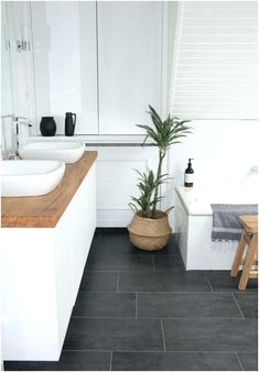 Large Bathroom Floor Tiles Impressive Grey Bathroom Floor Tiles Tiles Marvellous Dark Gray Floor Tile Grey Tile Floor What Color Large Blue Bathroom Floor Tiles Grey Bathroom Floor, Dark Gray Bathroom, Wood Bathroom, Bathroom Flooring, Bathroom Interior, Bathroom Ideas, Gray Floor, Bathroom Renovations, Large Tile Bathroom
