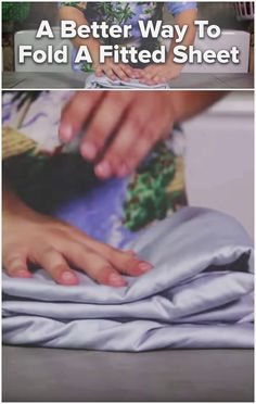 A better way to fold a fitted sheet