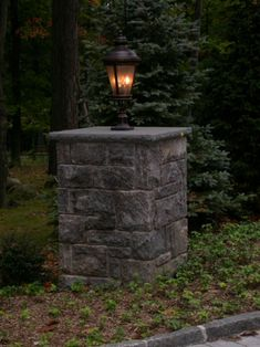 Pre Built Stone Pillars Or Piers Driveway Columns
