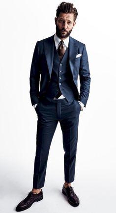 b9267f9e1aed 8 bästa bilderna på Blå kostymer i 2016   Herrkläder, Herrmode och ...