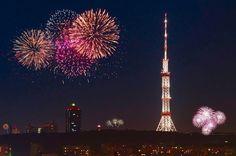 Kiev fireworks