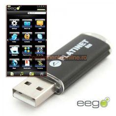 Pendrive USB X-Depo Soft EEGO, 16GB, Platinet - 401565