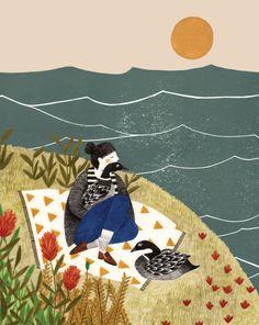 Flow Magazine Liekeland Illustration by Lieke van der Vorst Art And Illustration, Illustrations, Ouvrages D'art, Guache, Art Design, Art Inspo, Art Paintings, Art Gallery, Art Prints
