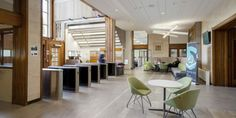 Significant refurbishment and interior design improvements at the University of Bristol's Faculty of Engineering Queen's Building University Interior Design, Reception Desk Design, Timber Panelling, Study Rooms, Refurbishment, Commercial Interiors, Interior Design Kitchen, Bristol, Cool Designs