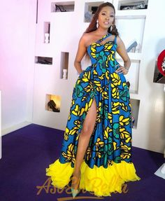 Ankara gowns are beautiful and we've got more than enough ankara long gown styles you'll love in this post. African Fashion Ankara, Latest African Fashion Dresses, African Print Fashion, Africa Fashion, Latest Outfits, Nigerian Fashion, Stylish Outfits, African Party Dresses, African Print Dresses
