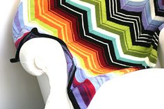 Missoni inspired blanket knitting pattern
