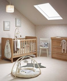 Atlas 2 Piece Nursery Set with Cot to Toddler Bed & Dresser - Oak Effect | Mamas & Papas