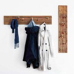 This coat rack is made from Bamboo, Scoreboard is a graphical coat hanger with a lot of possibilities. You can decorate it the way you want it. Scoreboard was d