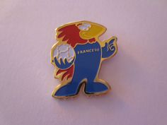France 1998 FIFA Football World Cup Footix the Mascot Official Pin Badge  | eBay