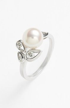Mikimoto Akoya Pearl & Diamond Ring available at #Nordstrom