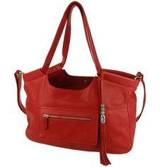 LOVE the luxury leather designer Caroline in Red complete with a detachable, washable canvas inner 'baby bag' and washable red Lily Jade changing pad.
