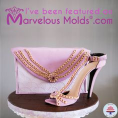 Gum Paste Stiletto Shoe Tutorial I'm so happy to share with you that my Gum Paste Stiletto Shoe tutorial has been featured in the Marvelous Molds Website. Here's a full picture of the c… Shoe Cakes, Purse Cakes, Shoe Molding, Cake Decorating Tutorials, Decorating Ideas, Cake Blog, Stiletto Shoes, Cupcake Cookies, Cupcakes