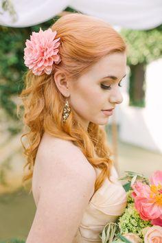 beautiful wedding hair and makeup idea