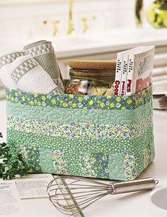 Stash It Fabric Basket Pattern